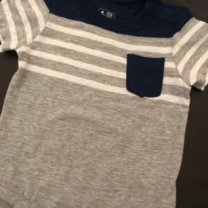 GAP One Pieces - Baby Gap striped pocket tee - Size 6-12mos